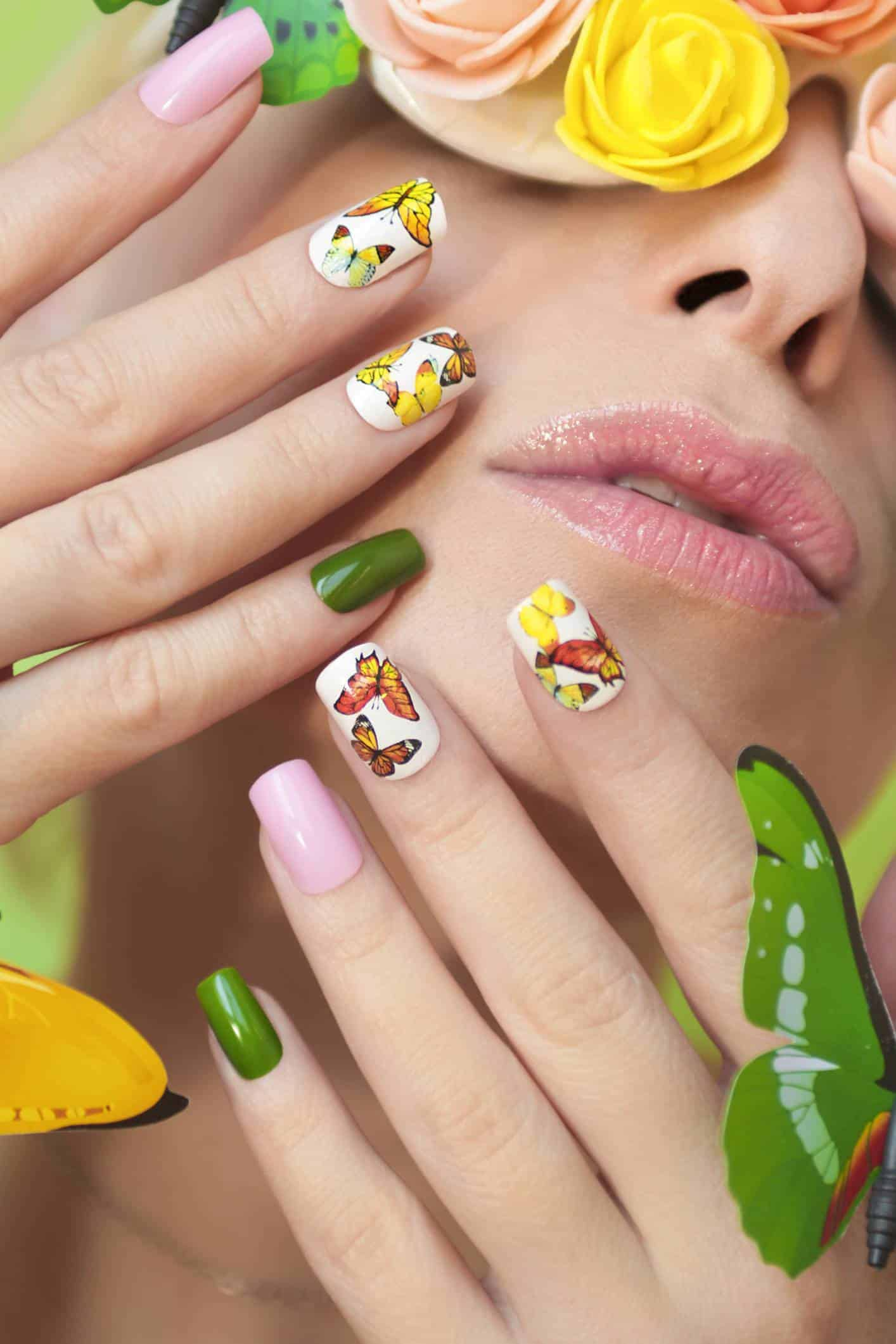 stickers ongles manucure