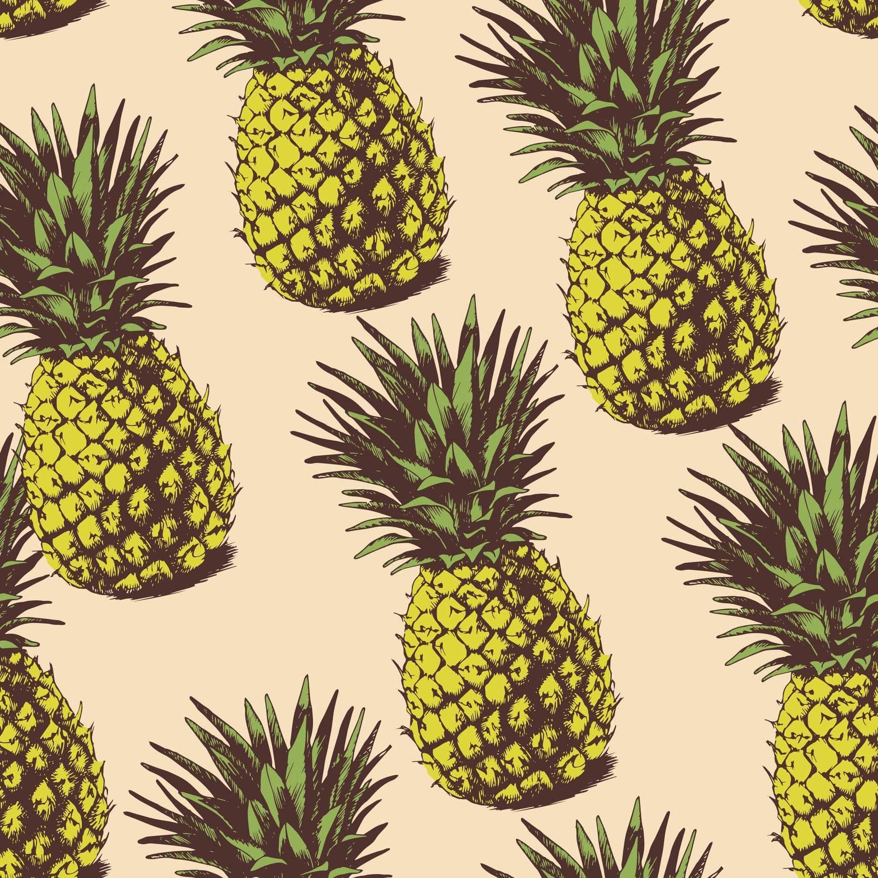 motif imprimé ananas
