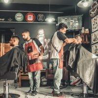 Le dégradé avec cheveux frisés